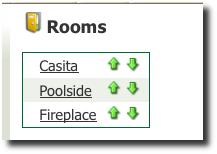 Treatment Room List Screenshot