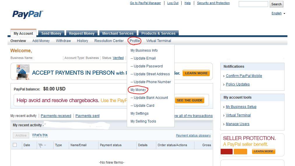 paypal account setup instructions